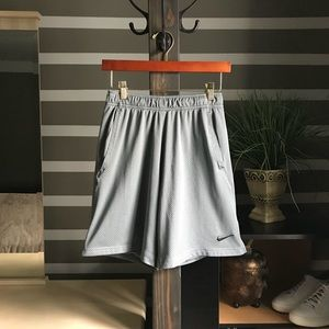 Nike Dri-Fit Grey Mesh Athletic Shorts